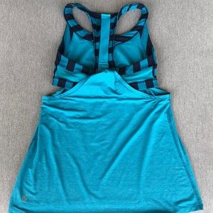 Lululemon built in racerback sports bra shirt